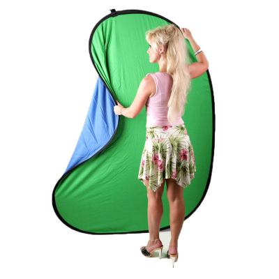 Green screen pozadí flexibilní dvojité 1,5x2m