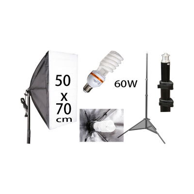 Softbox 50x70cm 60W - set
